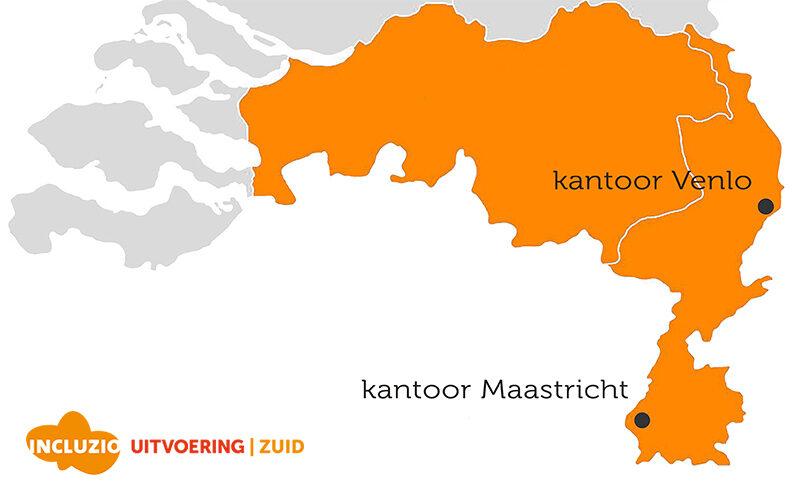 Incluzio Uitvoering Zuid kantoren Limburg Venlo en Maastricht